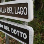 Sign on Pritchard Hill for the private Del Dotto Estate
